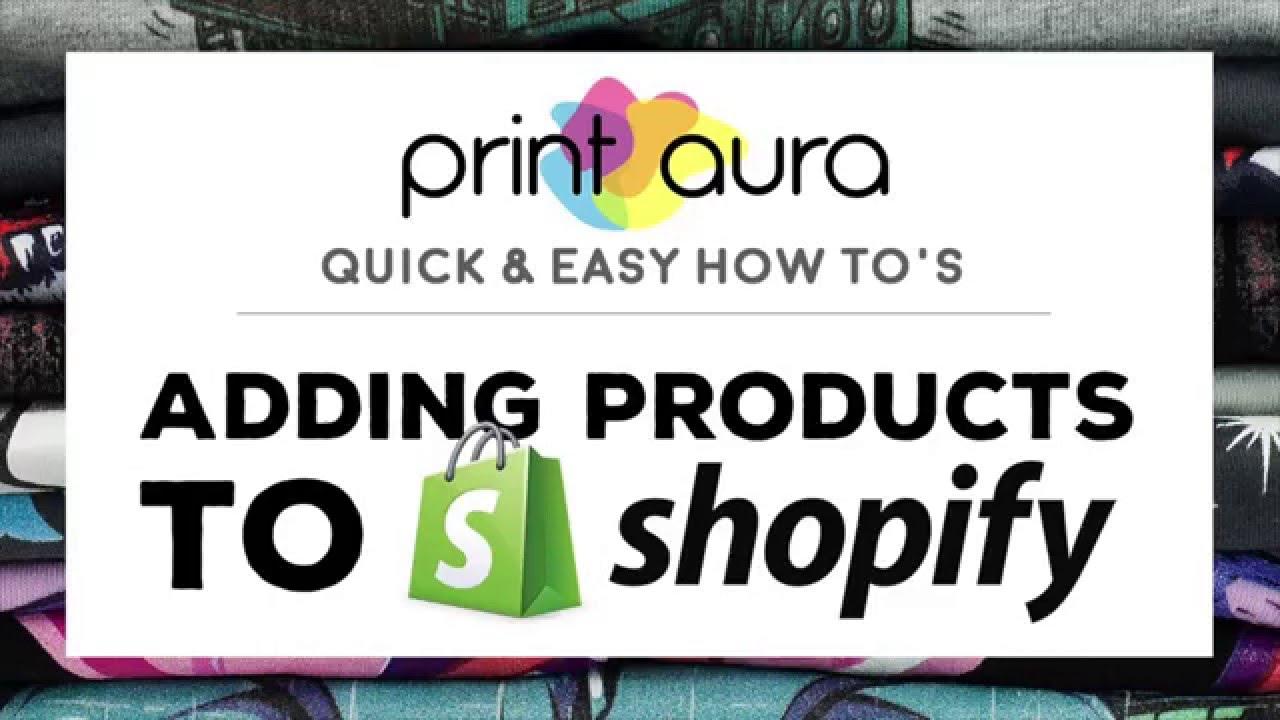 Crée ta marque Printaura + Shopify